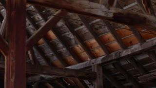 Rafters in the attic of a barn