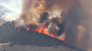 Raging Fire Burning Mountain