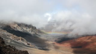 Rainbow in Volcano Crater
