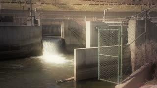 River Dam Diverting Water
