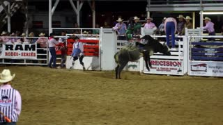 Rodeo Bull Ride Slow Motion