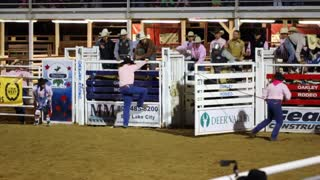 Rodeo Cowboy Falls of Bucking Bull