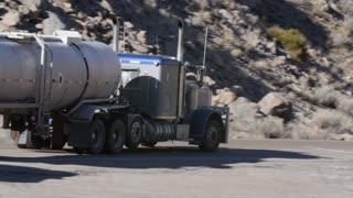 Semi Truck entering a coal mining plant