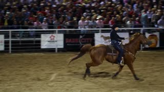 Slow Motion Barrel Racing at Rodeo