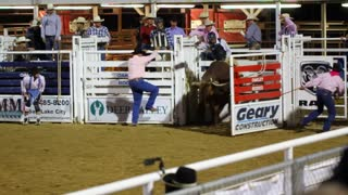 Slow Motion Bull Ride Rodeo