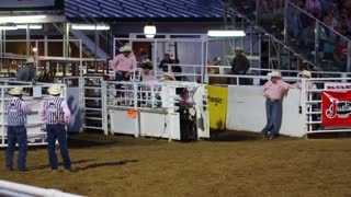 Slow Motion Calf Roping at Rodeo