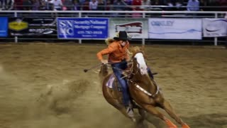 Slow Motion Rodeo Barrel Racing