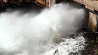 Sluice Gate lets flood waters out of dam