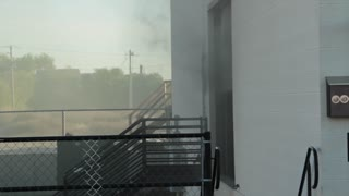 smoke from building fire