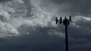 Storm over antenna timelapse