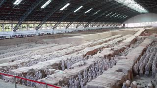 Terracotta warriors dig site in Xi'an