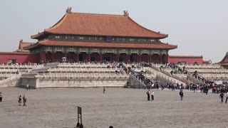 the amazing forbidden city palace courtyard in beijing china