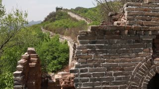 the cool great wall of china on mountain jiankou section