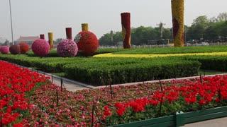 the gardens at tiananmen square beijing china