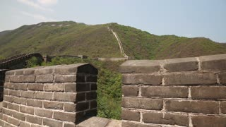 the great wall of china beijing mutianyu with tourists