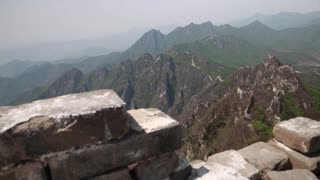 the great wall of china on immense ridges near beijing