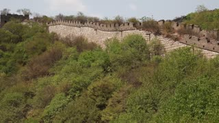 the great wall of china on mountain jiankou