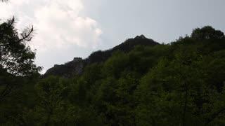 the great wall of china on mountain ridge