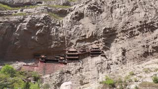 the hanging temple monastery in datong china panning