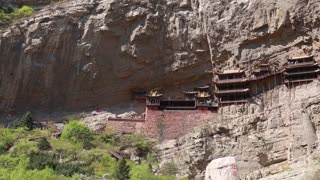 the hanging temple monastery in datong china
