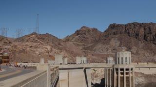The Hover Dam near las vegas in desert
