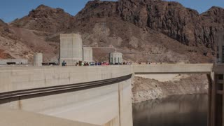 The Hover Dam near las vegas in the desert