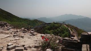 the jiankou section great wall of china on a mountain ridge