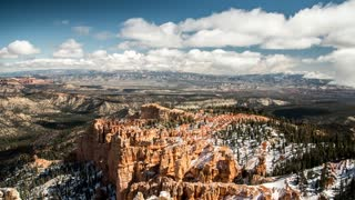 Timelapse a beautiful snowy bryce canyon national park