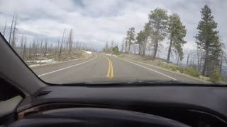 Timelapse family driving through Bryce Canyon National Park
