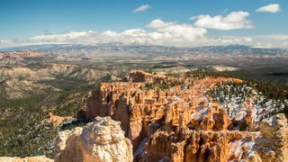 Timelapse of clouds over bryce canyon national park