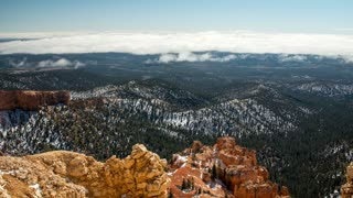 Timelapse of the clouds over bryce canyon national park