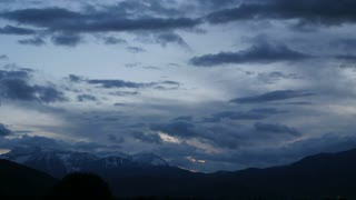 Timelapse storm clouds above the mountain range