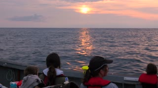 Tourists Cruising On A Commercial Fishing Boat In Cape Breton Island