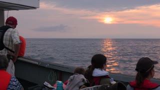 Tourists Cruising On A Commercial Fishing Boat In Cape Breton