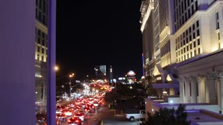 Traffic on the Las Vegas strip