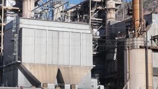 Two large smokestacks at coal mining plant