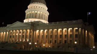 Utah State Capitol Building at Night