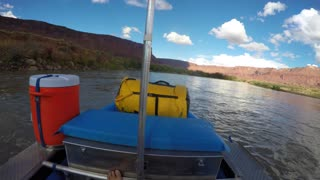 A Pov Shot People Rafting On The Colorado River Near Moab Utah