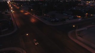 Aerial Establishing Shot Of The Bright Las Vegas Lights At Night