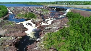 Aerial Of A Hydroelectric Dam In Grand Falls Newfoundland Canada