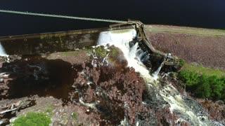Aerial Of A Hydroelectric Dam In Grand Falls Windsor Newfoundland