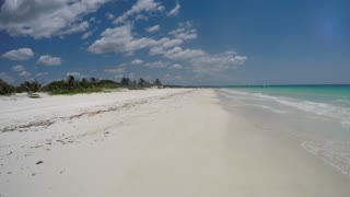 Beautiful Caribbean Sandy Ocean Beach And Water
