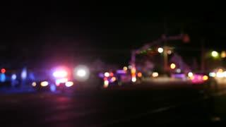 Police car LED strobe lightbar, flashing blue lights, emergency vehicle  lighting Stock Video Footage - Storyblocks Video