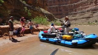 Families Floating Down The San Juan River In Beautiful Southern Utah