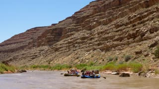 Families Rafting On The San Juan River In Southern Utah