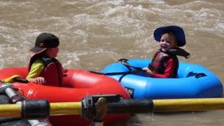 Family Floats Down The San Juan River In Beautiful Southern Utah