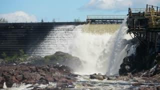 Hydro Electric Waterfall Grand Falls Newfoundland Canada