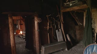 Interior Of Viking Home In Lanse Aux Meadows In Newfoundland