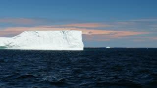 Large Icebergs Float In Atlantic Water