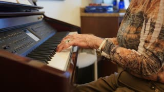 Old Folks Listening To A Musical Recital In A Retirement Home
